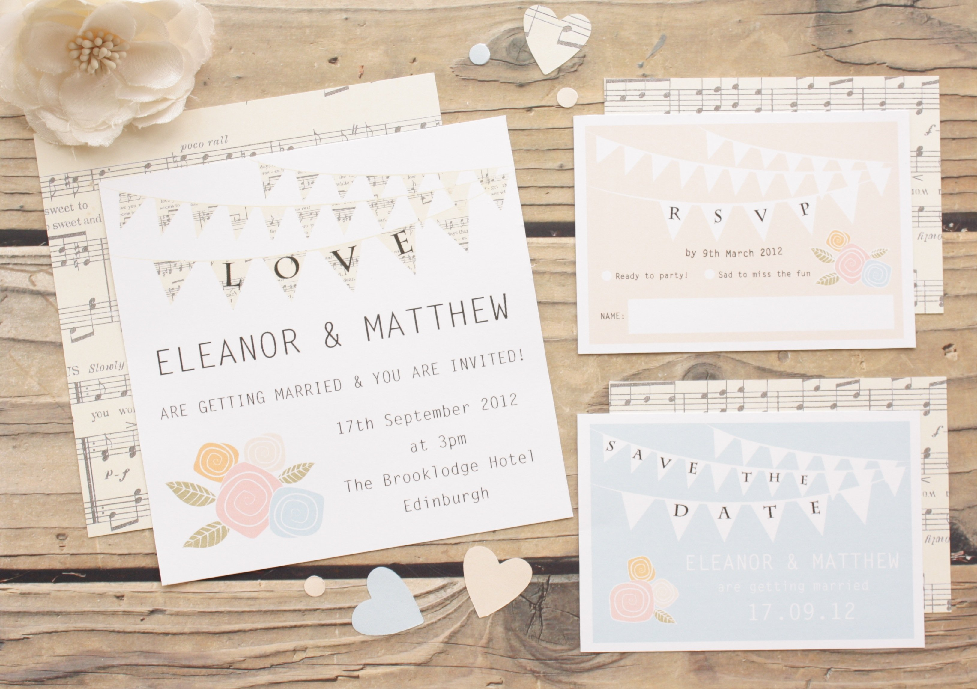 Bunting-Love-Wedding-Invitation-Set | Wedding Planner Malta
