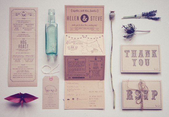 Recycled-Country-Wedding-Invitations-Bridges-and-Eggs-550x379