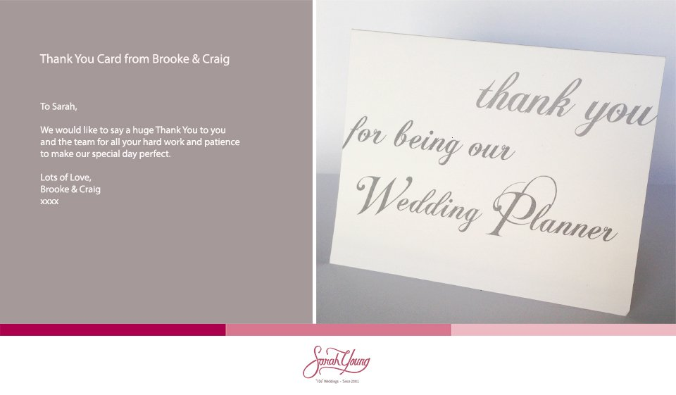Thank You Card Brooke Craig Wedding Planner Malta