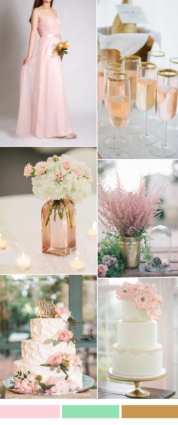 blush-and-green-wedding-color-ideas-with-tulle-bridesmaid-dresses