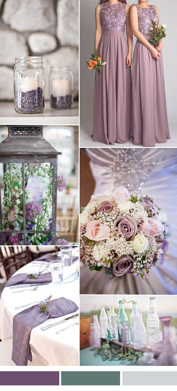 dark-lavender-and-green-wedding-color-ideas-with-lace-bridesmaid-dresses