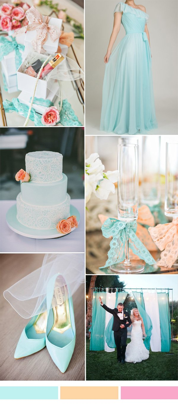 mint-blue-and-peach-wedding-color-palette-and-tulle-bridesmaid-dress-