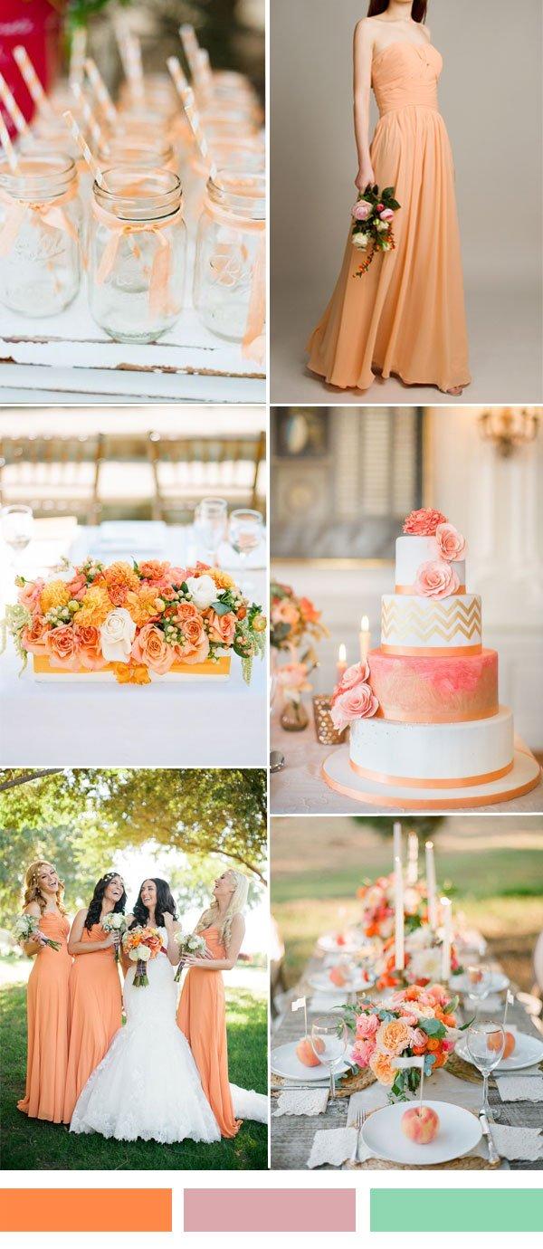 peach-orange-wedding-color-ideas-for-fall-wedding-2015