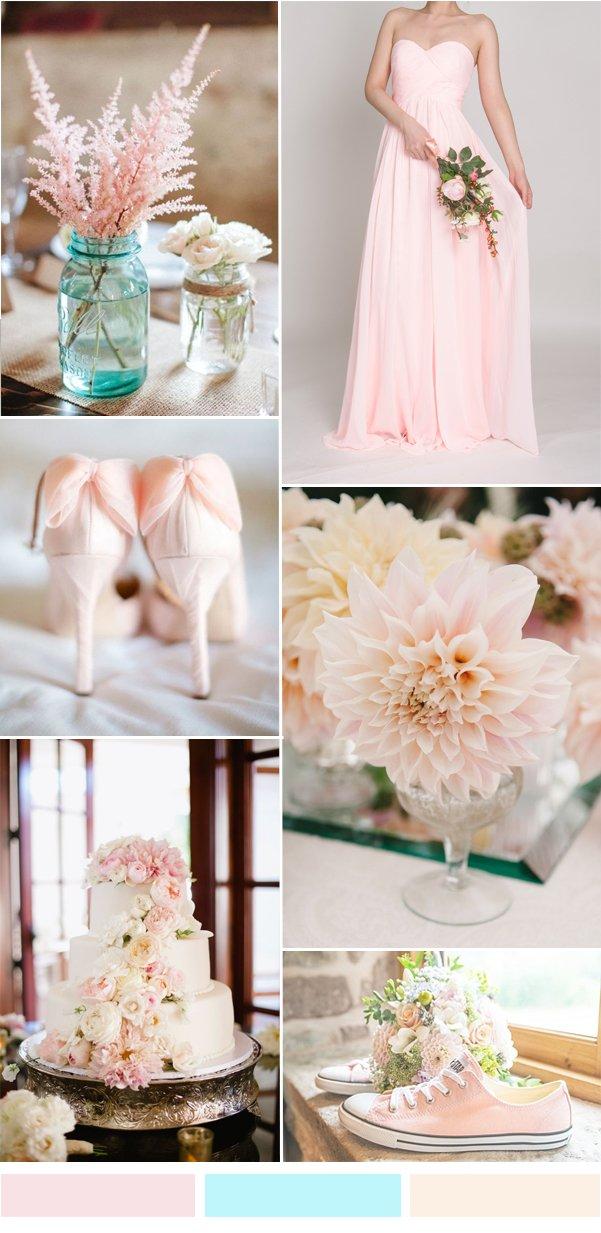 sand-pink-bridesmaid-dress-for-spring-summer-wedding-ideas