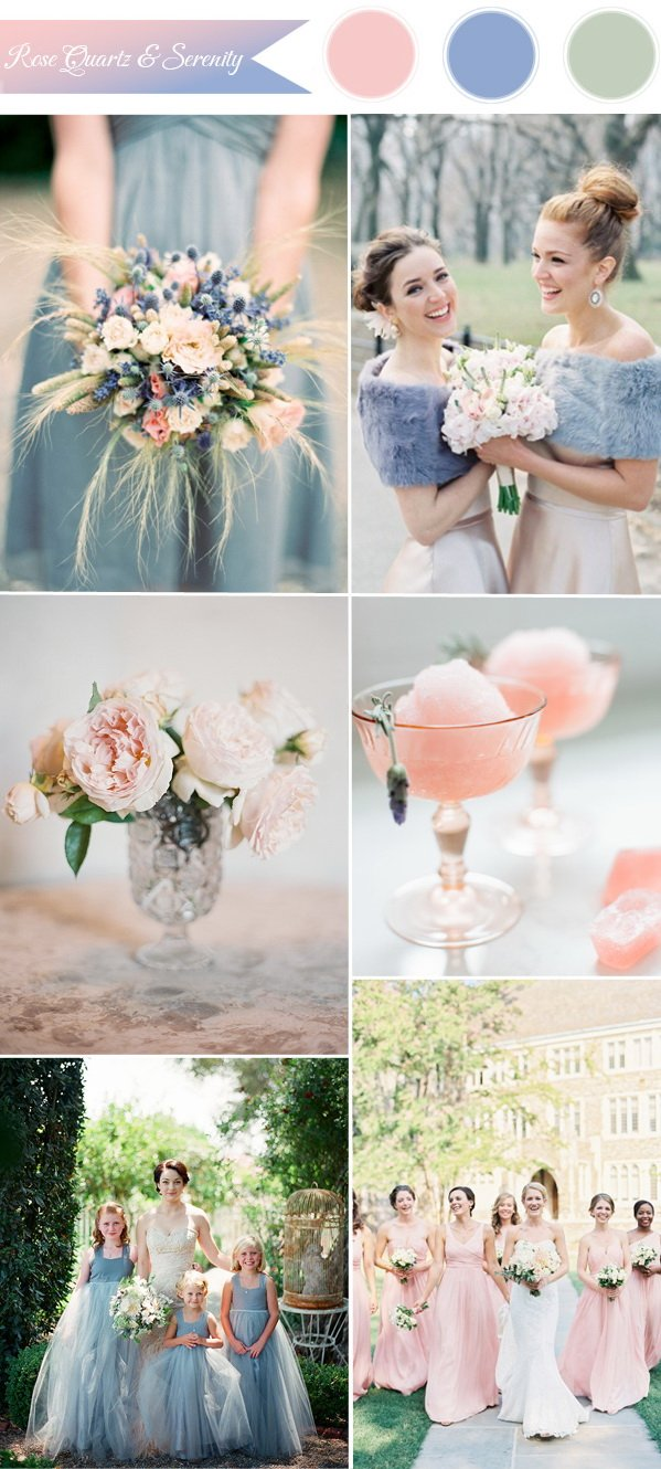 Pantone Colour of the Year - Rose Quartz & Serenity | Wedding ...