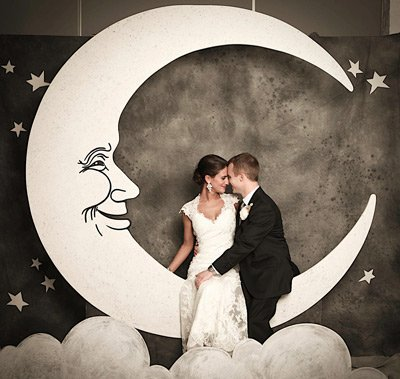 Paper Moon Photo Booth Backdrop