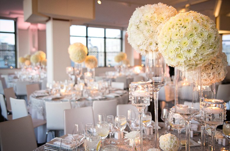 Image courtesy of: Christopher Duggan Photography http://www.dskylight.com/silver-and-white-wedding-reception/