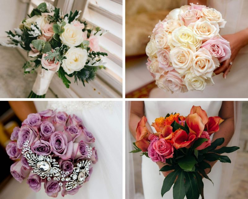Posy-style bouquets