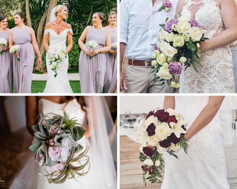 Shower-style bouquets